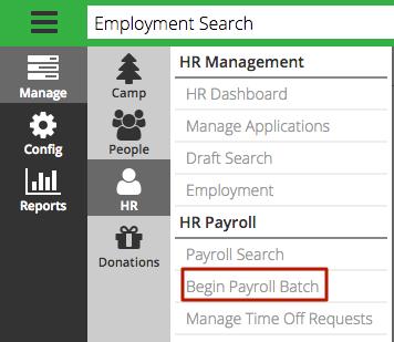 CT6 - Begin Payroll Batch